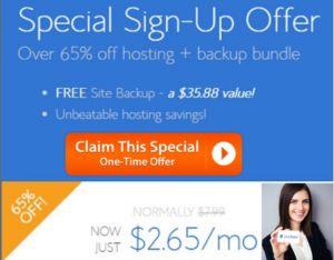 Bluehost One time deal