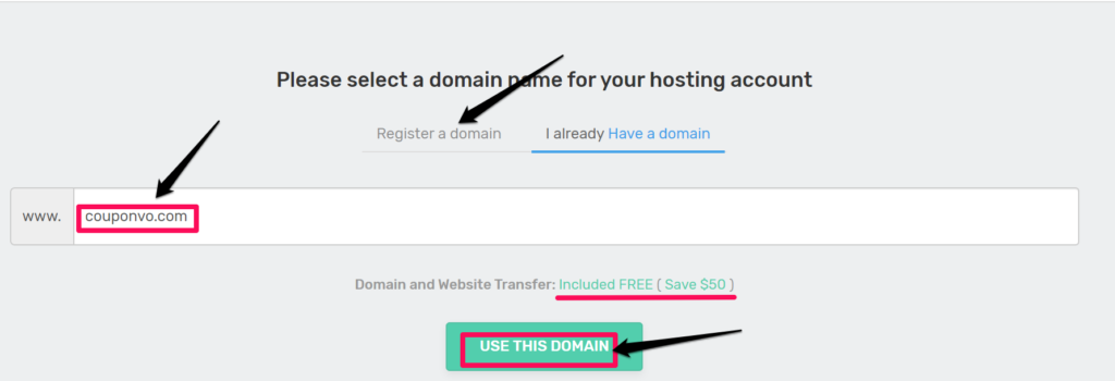 Fastcomet domain registration