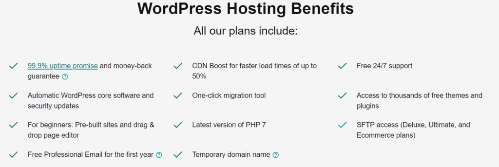 Godaddy WordPress Hosting Features