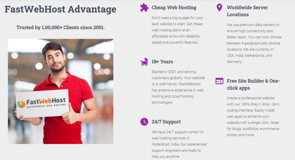 Fastwebhost features