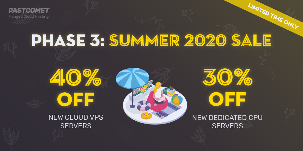 Fastcomet summer sale 2020