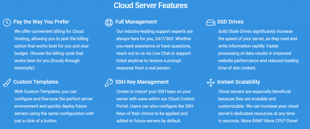 Cloud Server features