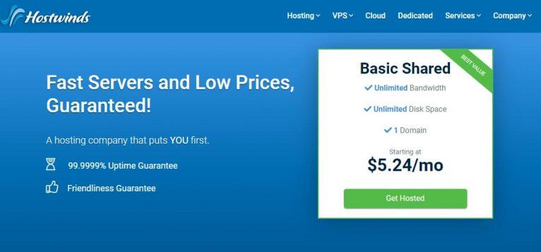 Hostwinds Website