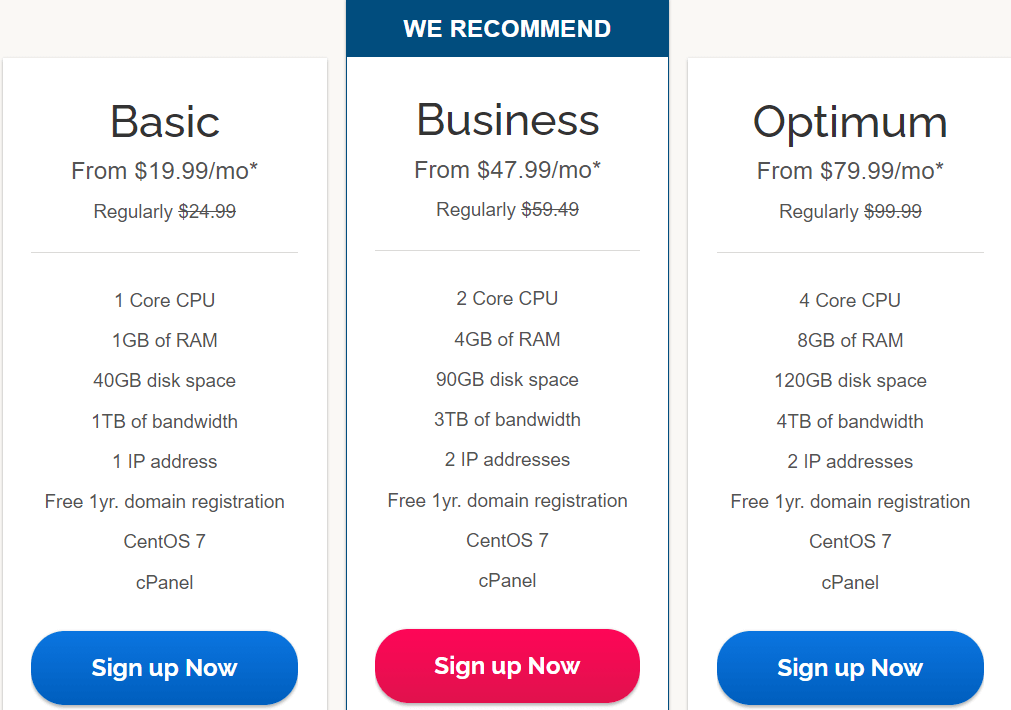 Ipage VPS Hosting Plans & Pricing